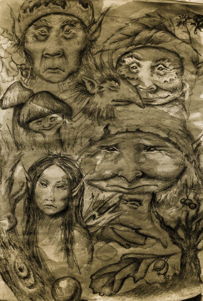 Faery sketchbook page