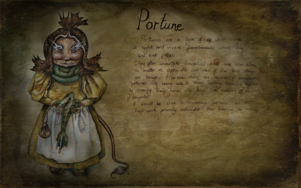 Portune pixie drawing