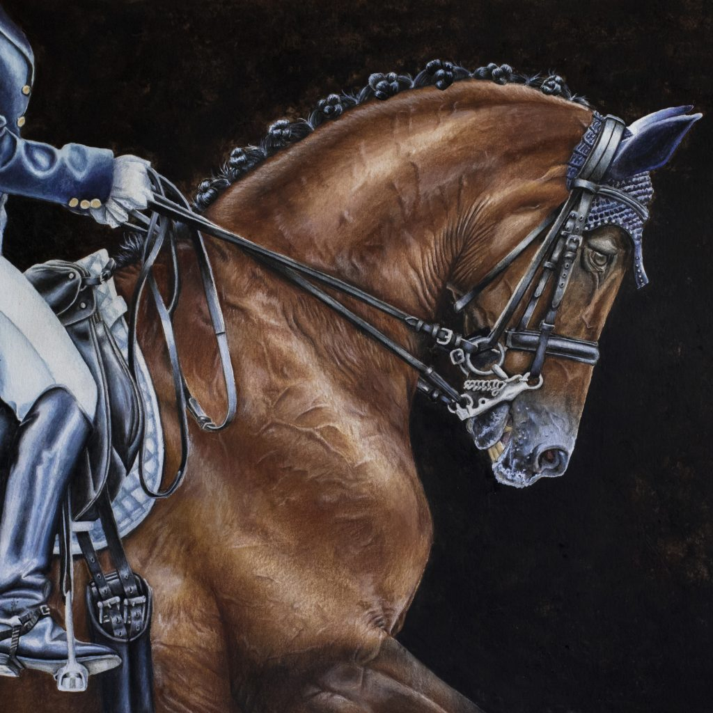 Painting of a dressage horse