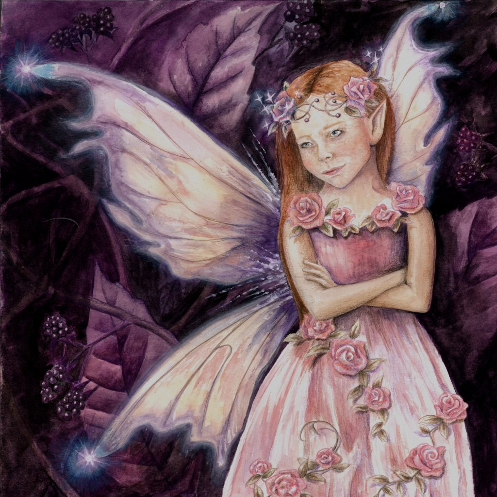 Painting of a rose faery