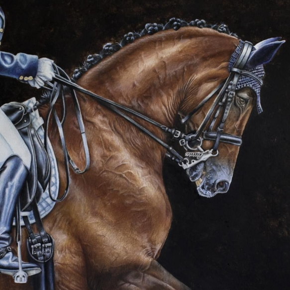 Dressage Horse painting by Jessica Hilton
