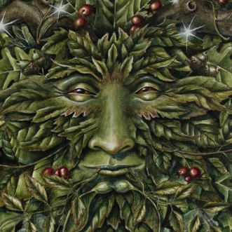 Green Man painting by Jessica Hilton
