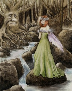 River Faery painting by Jessica Hilton