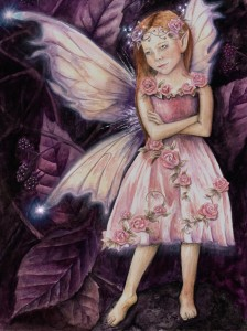 Rose Faery painting by Jessica Hilton